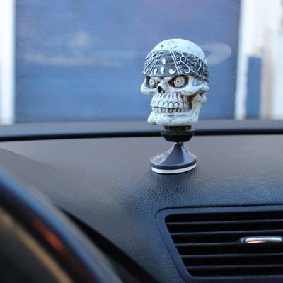 Black Bandana Skull Dashboard Topper
