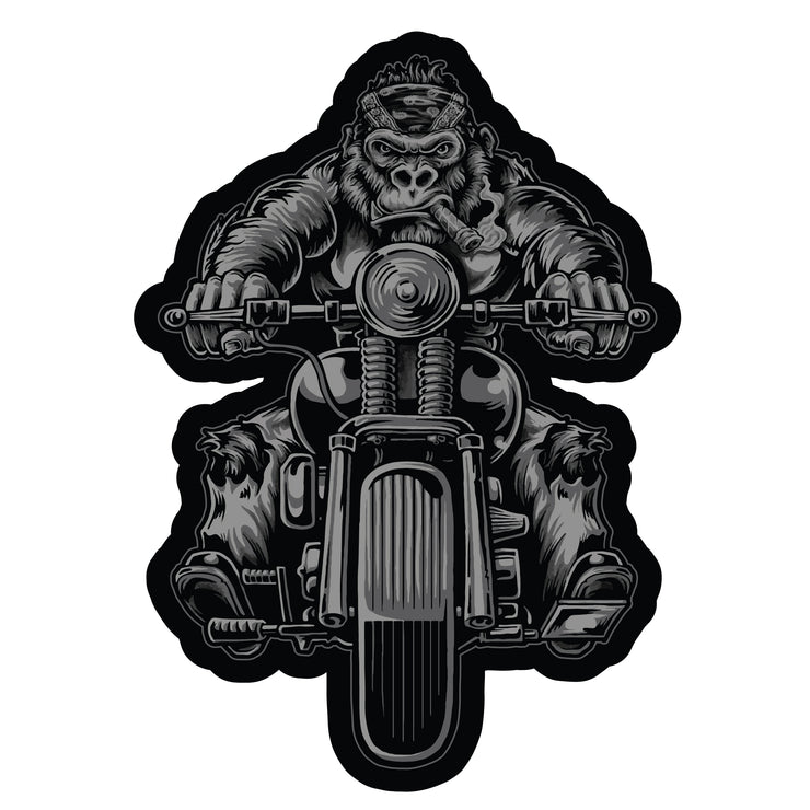Gorilla Biker Motorcycle Rider Patch