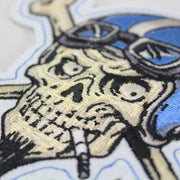Crossbones Vintage Biker Patch