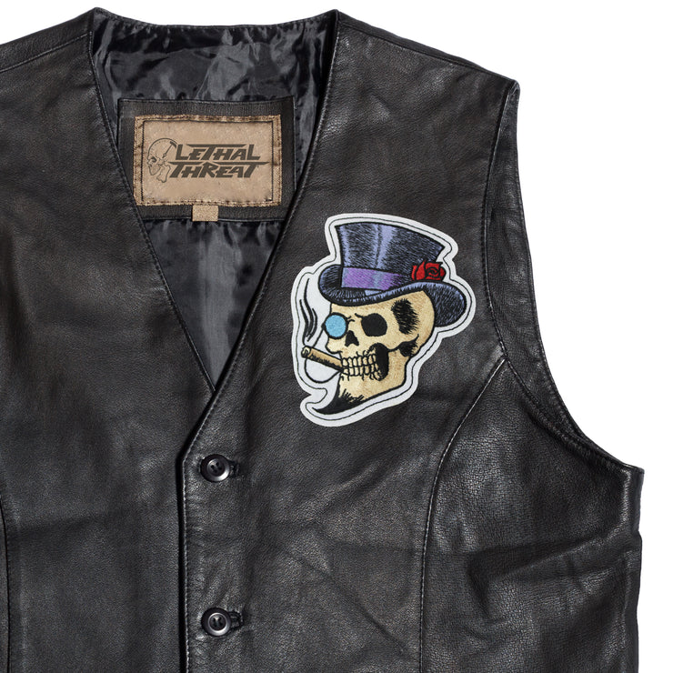 Top Hat Skull Patch
