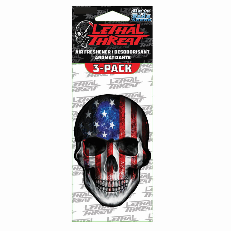 USA Skull Paper Air Freshener 3-Pack