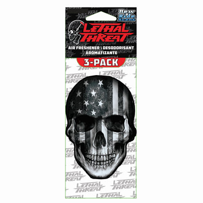 Gray USA SKull Paper Air Freshener 3-Pack
