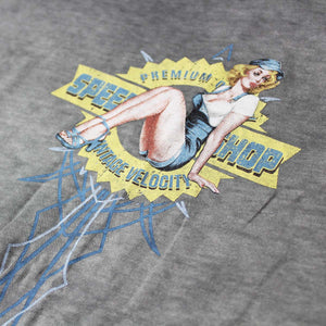 Vintage Velocity Speed Shop Pin Up Tee
