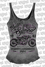 Built for Speed Motorcycle Snap Up Tank Top