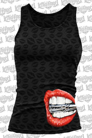 Bite the Bullet Burn Out Razor Back Tank Top