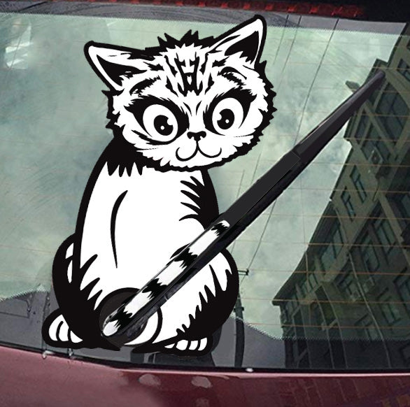 Rear Window Sticker: Cat Sticker