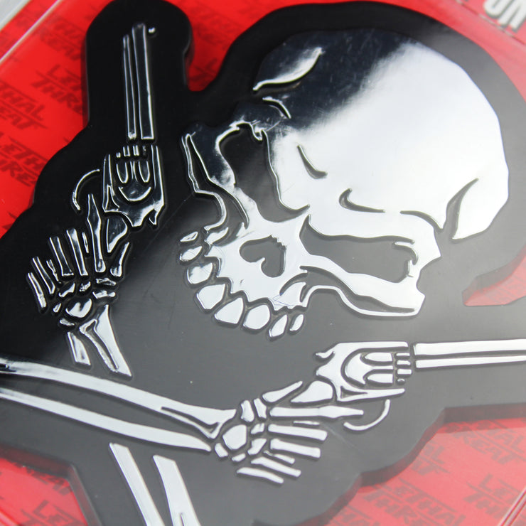 Skull n Guns Peel n Stick ABS Emblem