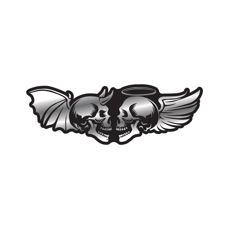 Angel & Devil Skulls ABS Emblem