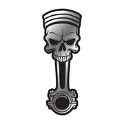 Skull Piston ABS Peel n Stick Emblem