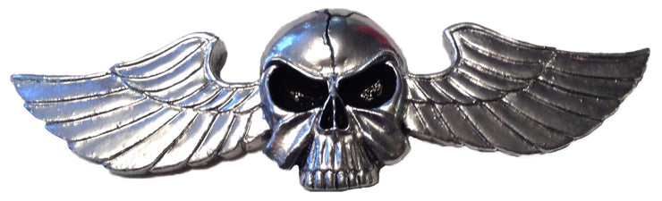 Racing Skull Peel n Stick  ABS Emblem