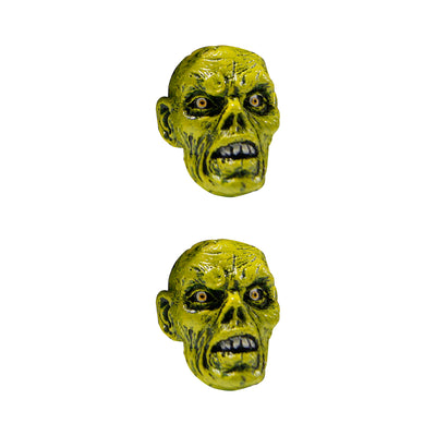 Zombie Heads Stick Ons -  2 per pack