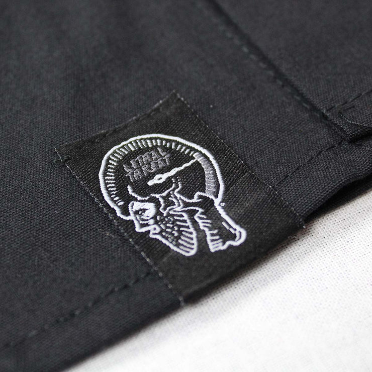 Grey USA Skull Embroidered Work Shirt
