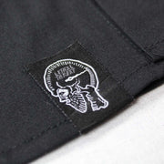 Winged Vintage Motorcycle Rider Skull Embroidered Work Shirt / Shop Shirt