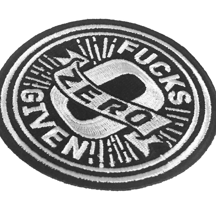 Zero Fucks Given Embroidered Patch