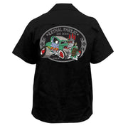 Rat Rod with Pin Up Girl  Embroidered Work Shirt
