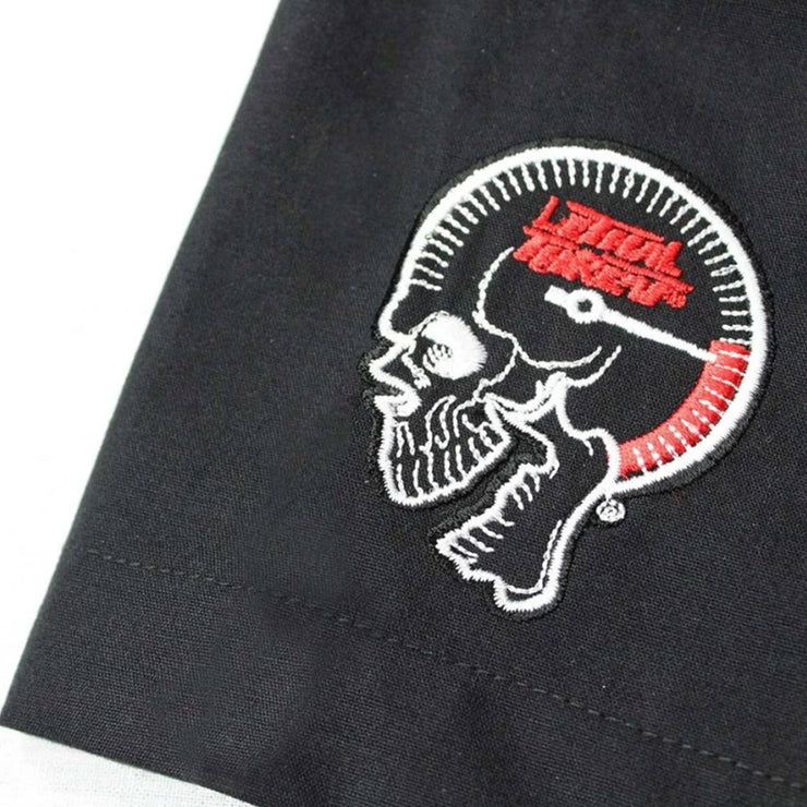 Fire Department Skull Embroidered Work Shirt