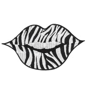 Zebra Lip Fashion Patch