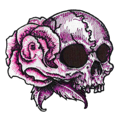 Rose Skull Right Facing Patch