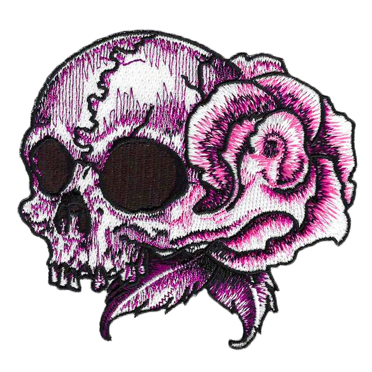Rose Skull Left Facing Rose Skull Patch