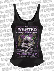 Most Wanted Skull Lace Up Tank Top