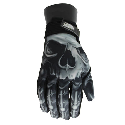 Biomechanical Skull Gloves