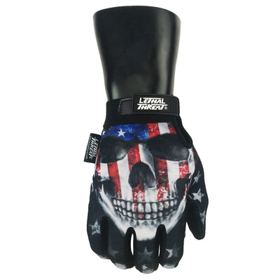 American Bad Ass Skull Hand Gloves