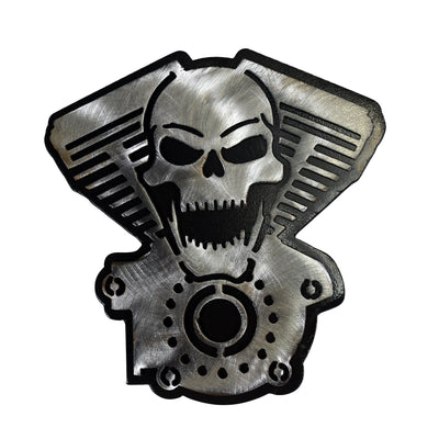 V-Twin Skull Metal Hitch Plug