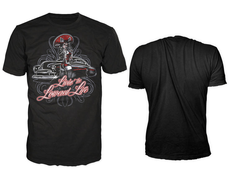 Lowered Life Pin Up Men's T-shirt