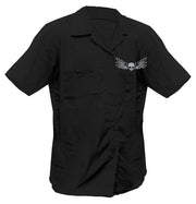 Middle Finger Screen Printed Work Shirt