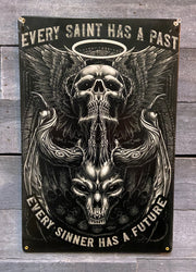 Every Saint and Sinner Vintage Metal Sign
