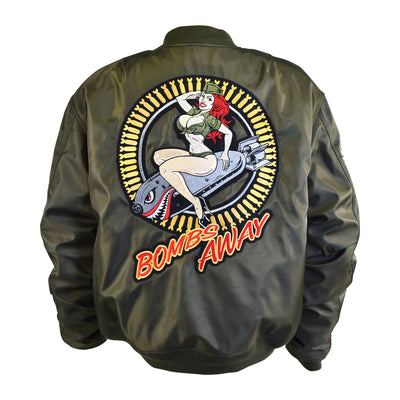 Bombs Away Pin Up Girl Bomber Jacket