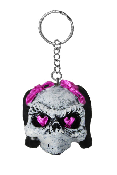 Girl Skull 3D Key Chain