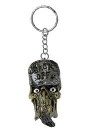 Back Off Skull Head Key Chain