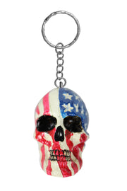 USA Skull Key Chain