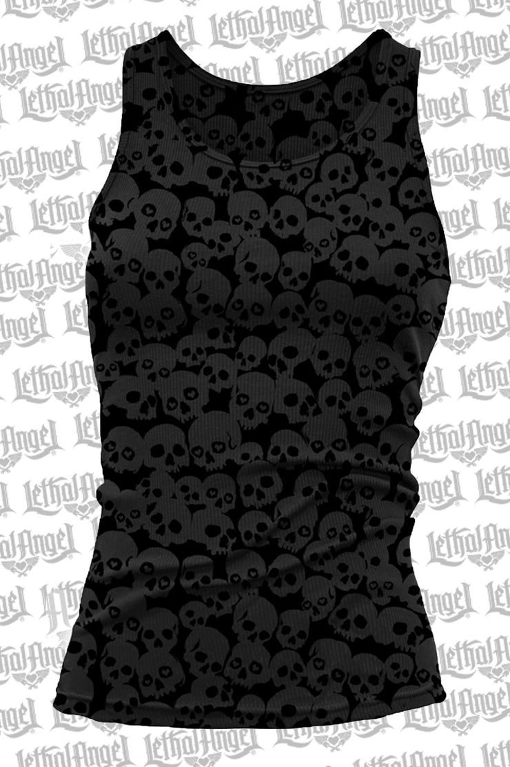 Skull Burn Out Tank Top - No Graphics
