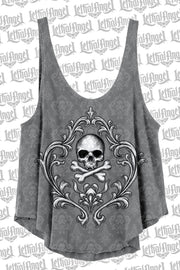 Skull and Crossbones Loose Tank Top