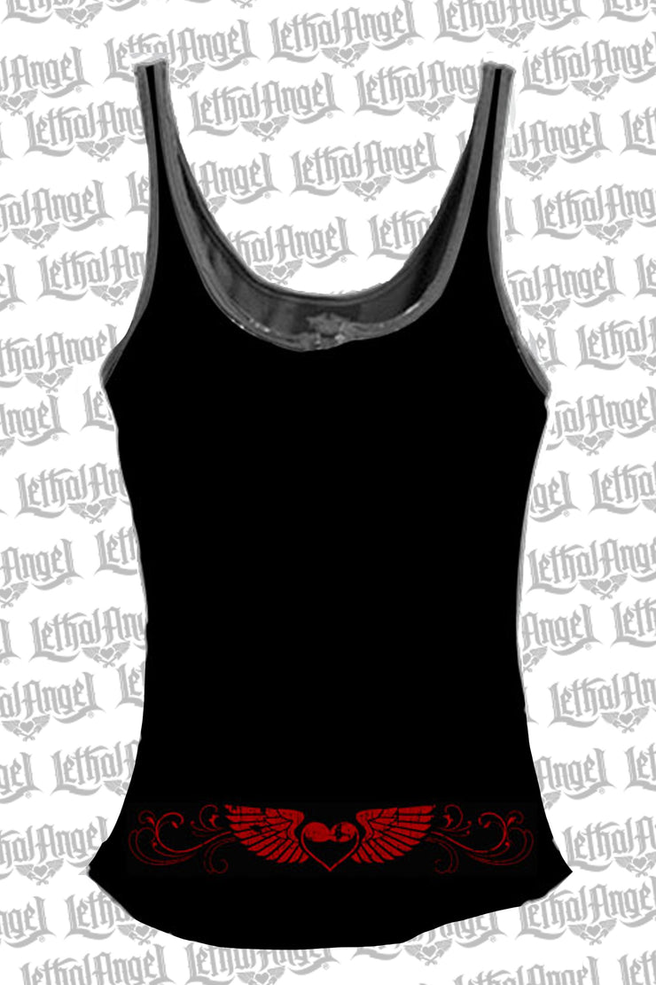 Born Free Eagle Lace Up Tank Top