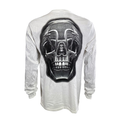Death Rider White Long Sleeve Men's Shirt