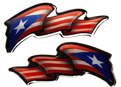 Domed Flags: Puerto Rico Flags