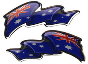 Domed Flags: Australian Flags Decal