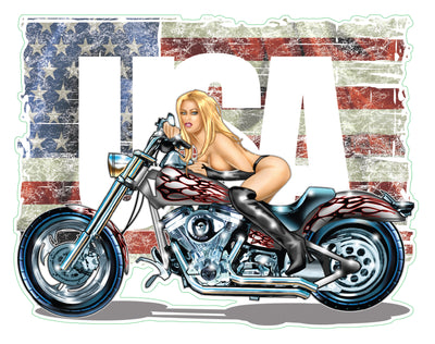 Miss Ride USA Motorcycle Decal