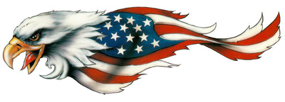 USA Flag Feathered Eagle Left Facing Decal