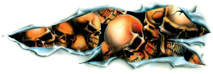 Shred Skull Decal