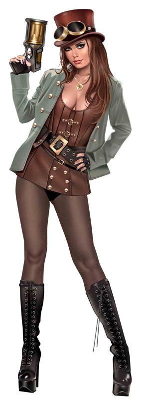 Steam Punk Pin-up Decal
