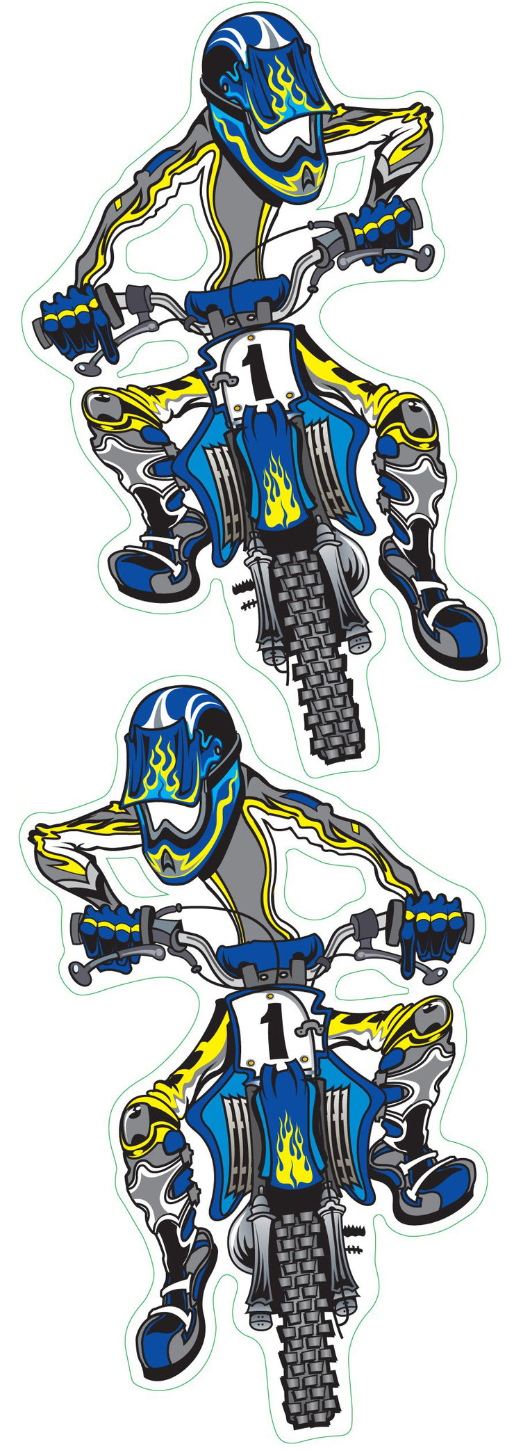 Blue Motor – Cross Decal