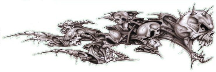 Skull Decay Right  Decal
