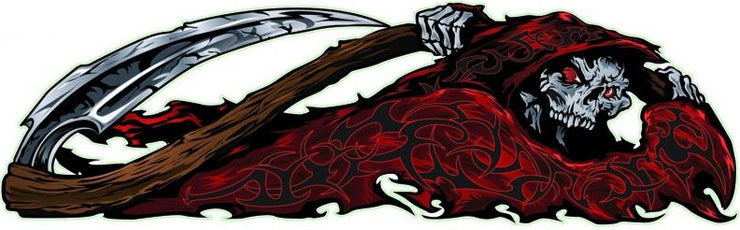 Red Tribal Reaper Right Decal