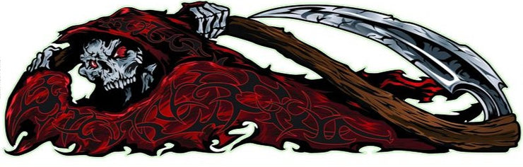 Red Tribal Reaper Left Decal