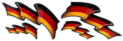 German Flag Set Decal
