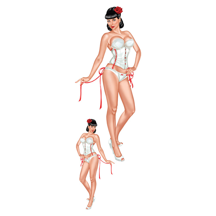 Retro Pinup Girl Decal